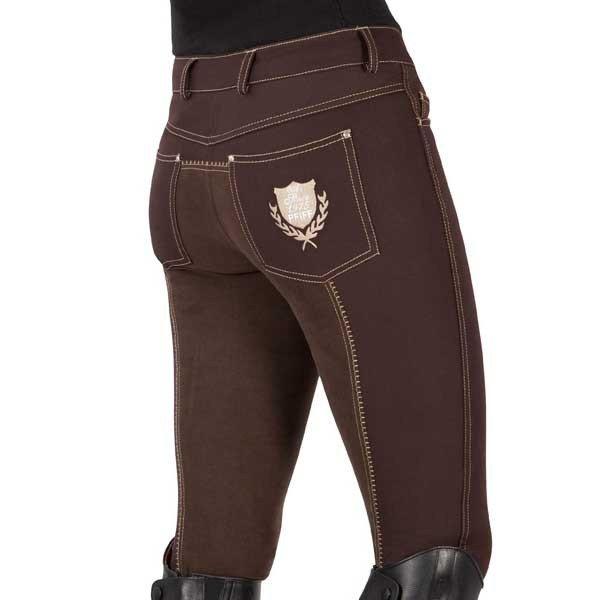 1-Le Pantalon D'équitation Marron éffet jean !