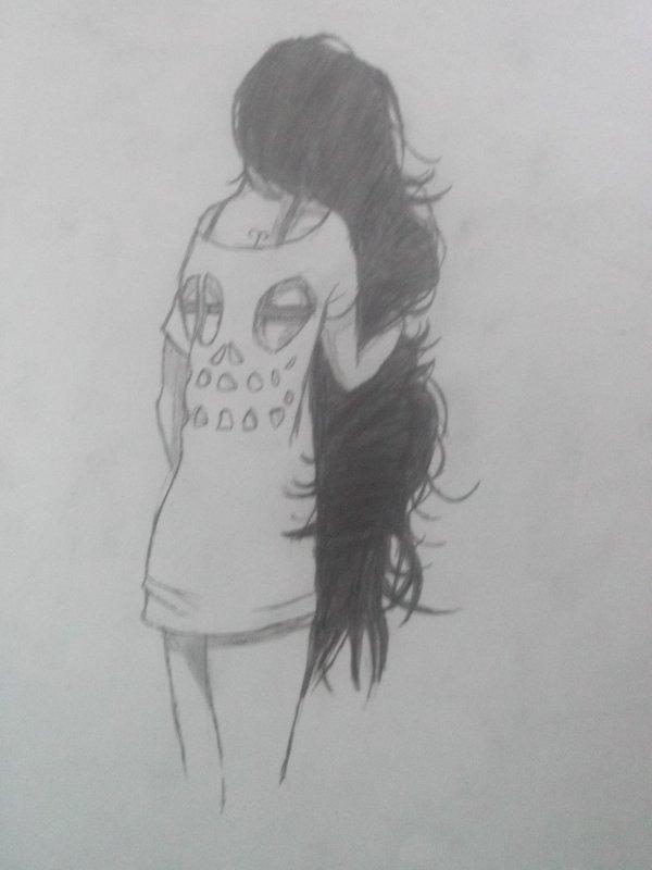 dessin manga de dos