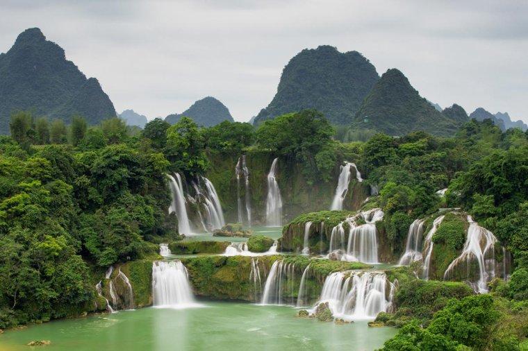 Les chutes de Ban Gioc au Viêt-Nam