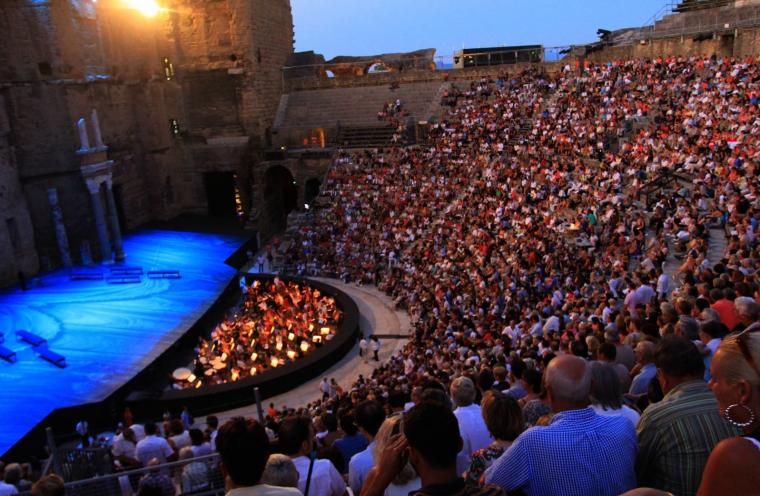 Le théâtre antique d'Orange....
