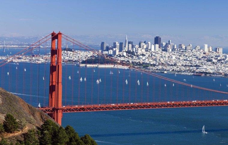 Le Golden Gate Bridge. Le pont de la porte d'or. San Francisco, USA...
