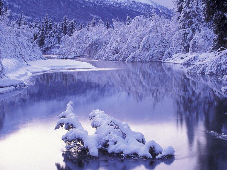 Quand la neige étant son blanc manteau........