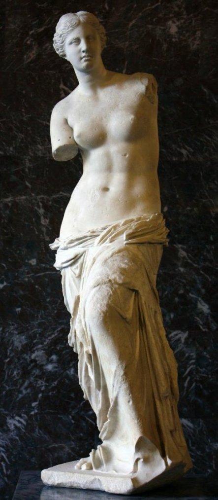 La Vénus de Milo, la déesse de la beauté et de l'amour....