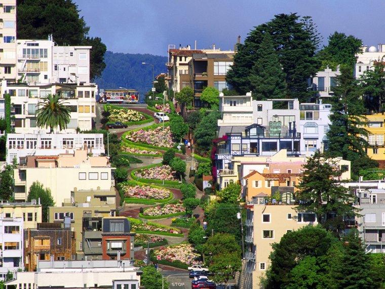 Lombard Street, San Francisco, U.S.A