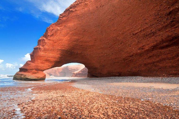 Cette arche naturel n'est plus... Maroc....