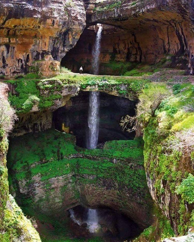 La cascade de la gorge de baatara, au Liban....