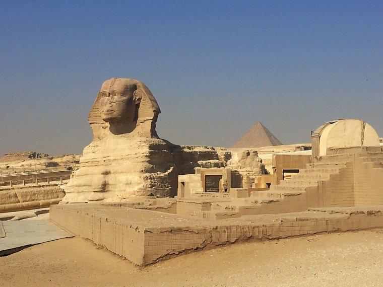 Le sphinx de Gizeh.....