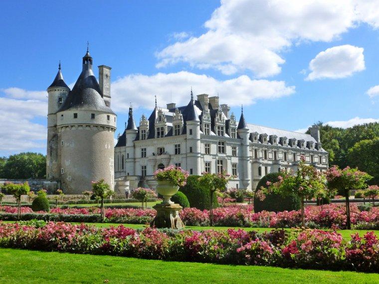 Le château de Chenonceau, Chenonceaux en Indre-et-Loire, France...
