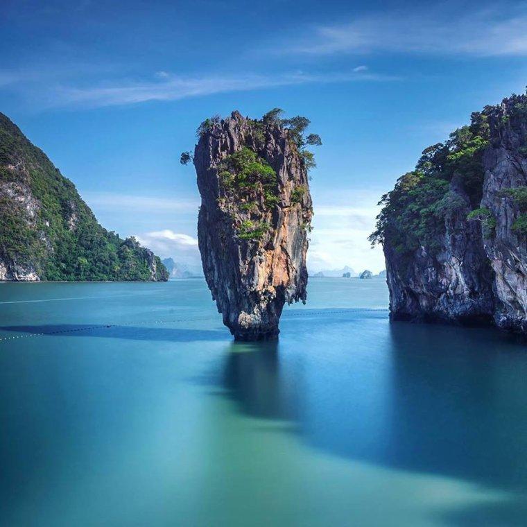 La baie de Phang Nga, dans le sud de la Thaïlande
