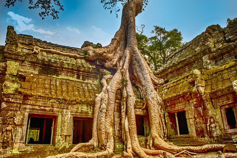La cité D'Angkor, Cambodge....