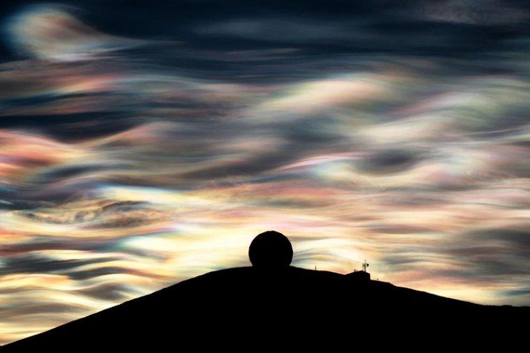 Nuages polaires stratosphériques en Antarctique....