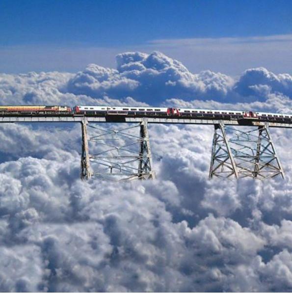 Au dessus des nuages......