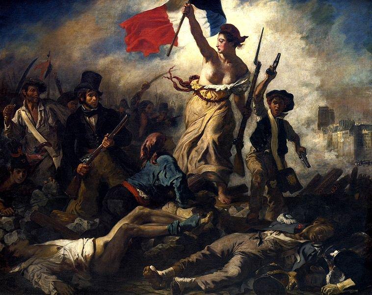 Eugène Delacroix - La liberté guidant le peuple.....