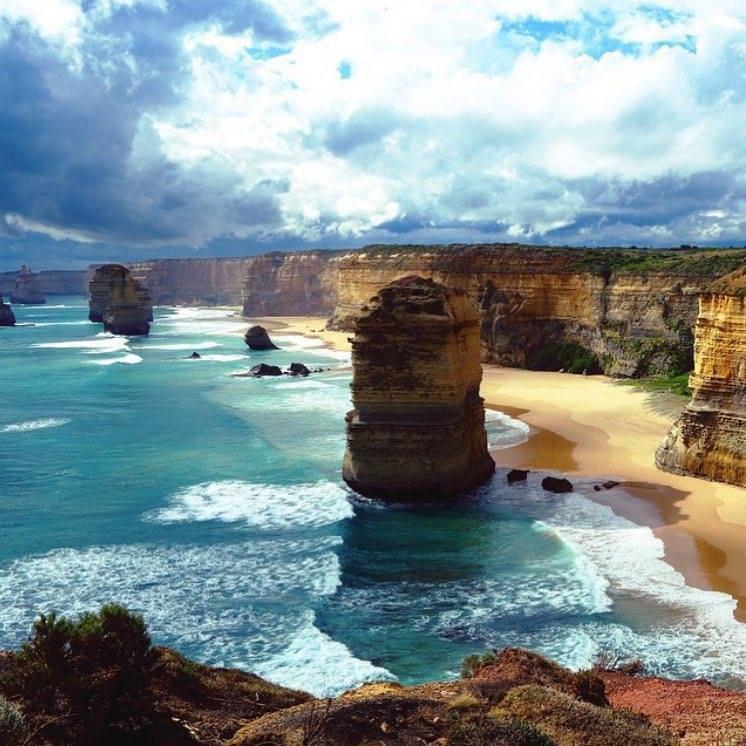 La plage des Douze Apôtres, Australie......