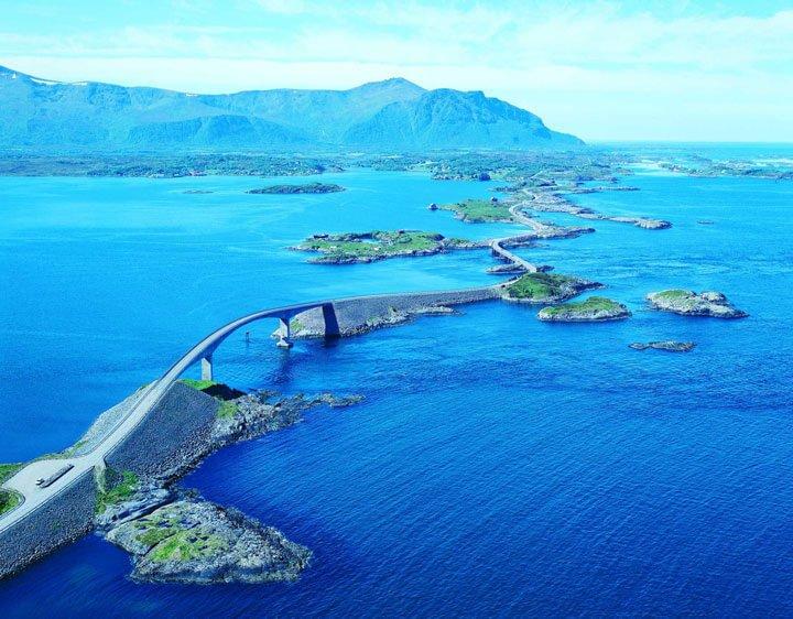 la route de l'Atlantique, Norvége....