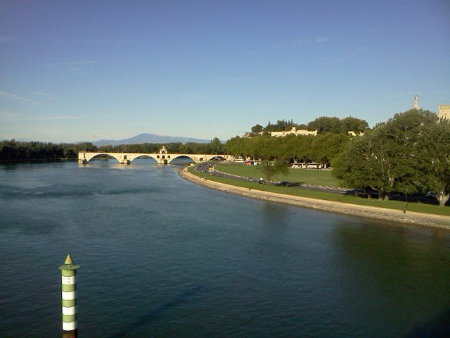 Le pont d'Avignon, le Rhône, Le mont Ventoux
