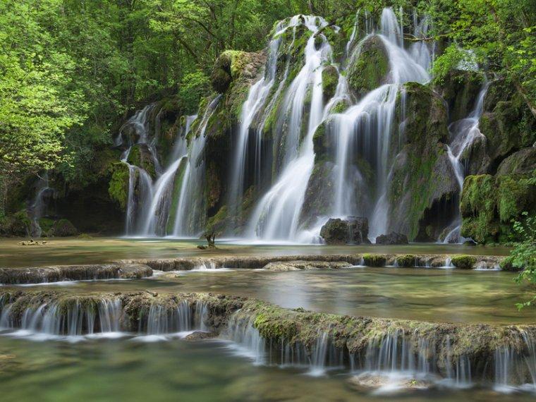 La cascade des Tufs, Jura, France.....