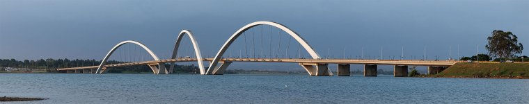 Le pont Juscelino Kubitschek, Brasilia, Brésil....
