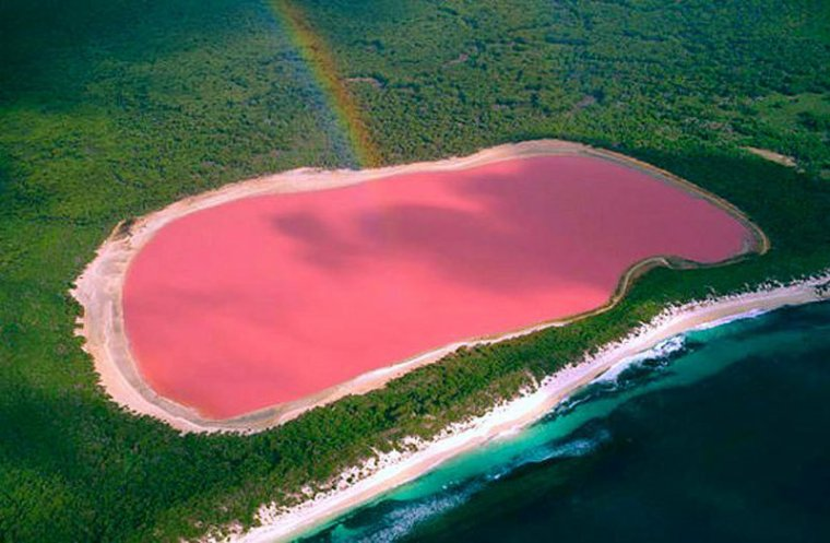 le lac rose Hillier, Australie....