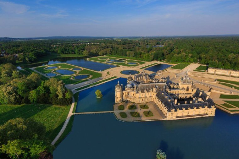 Le château de Chantilly, Oise (60) France.....