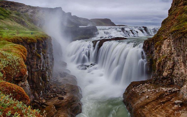 Les chutes de Gullfoss, Islande......