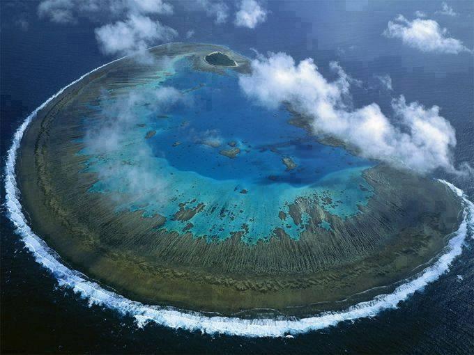 L'île Lady Musgrave, la Grande Barrière de Corail, Australie......