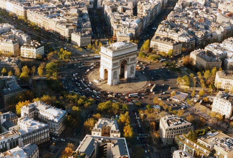 La place de l'Étoile, Paris, France.....
