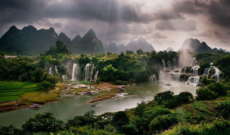 Les chutes de Bản Giốc, Vietnam....