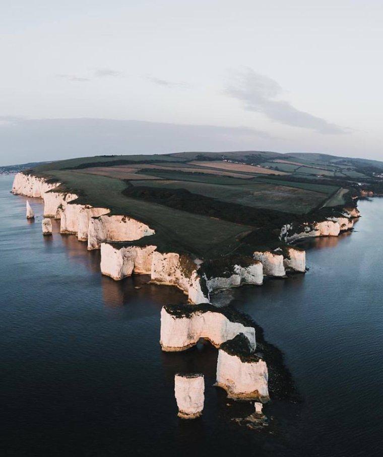 Old Harry Rocks, sur la côte sud de l'Angleterre....
