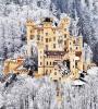 Le château de hohenschwangau, été comme hivers...