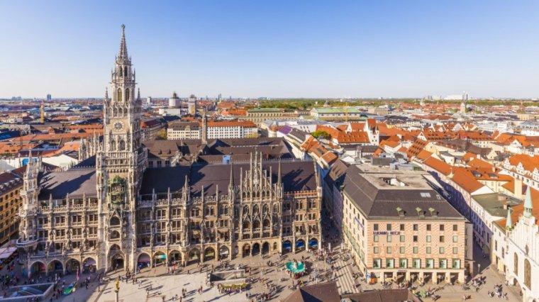 La bibliothèque municipal de droit de Munich, en Allemagne....
