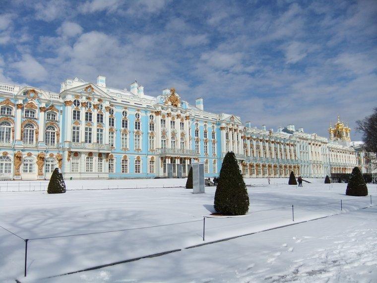 Un hiver à Saint-Pétersbourg, Russie....