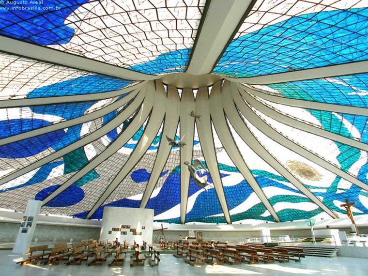 La Cathédrale de Brasilia, Brésil....
