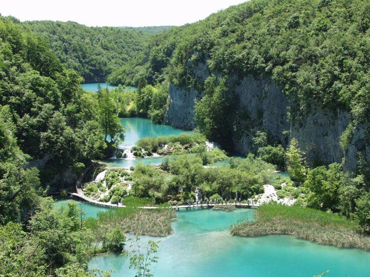 Parc national des lacs de Plitvice, Croatie.....