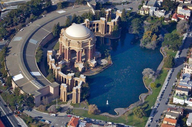 Le palais des beaux arts de San Francisco, USA...