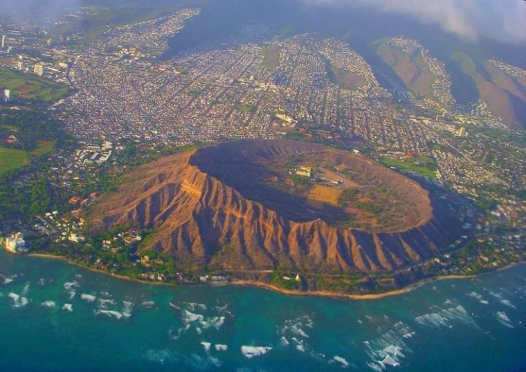 Diamond Head cratère volcanique, Hawaii