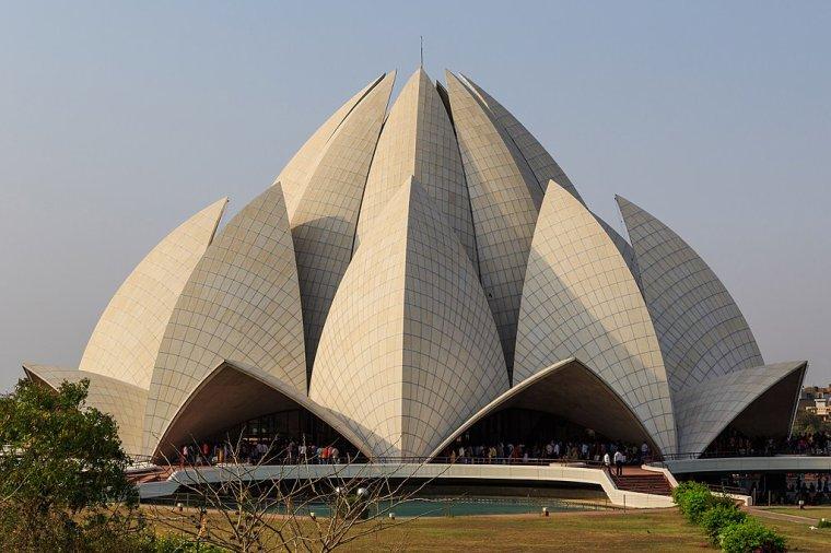 Le Temple du Lotus, New Delhi, Inde.....