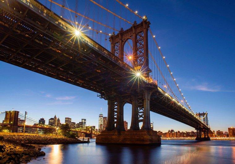 Le pont de Brooklyn à New York, États-Unis....