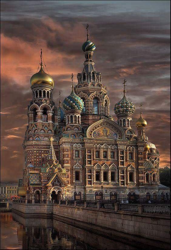 Cathédrale Saint-Sauveur-sur-le-Sang-Versé, Saint-Pétersbourg, Russie...
