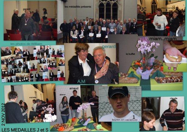 MEDAILLES Jeunesse et sports 2012