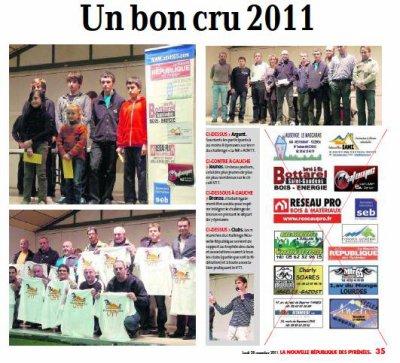remise des prix Challenge NR 2011