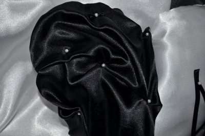 coussin pour alliances noir et blanc