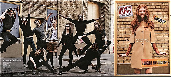 Photoshoot tiré du magazine français Marie Claire où pose Cintia Dicker en 2010.