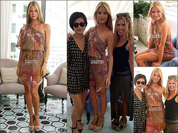 19/07/2012 | La mannequin Emma Ostilly était au Miami Swin Kick off brunch.
