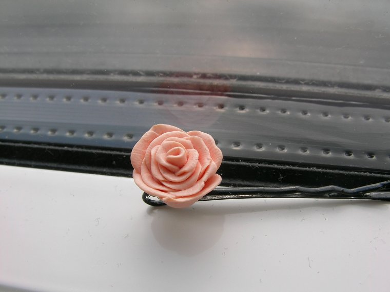Barette, pince à cheveux rose