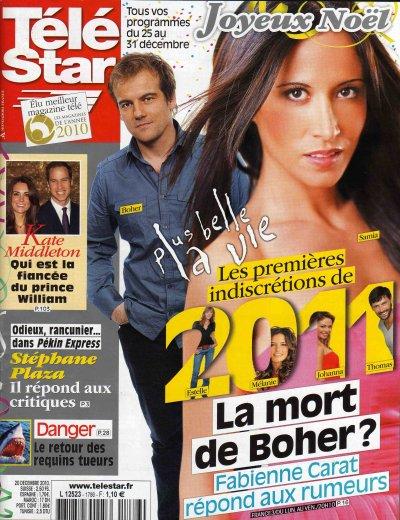 Cette semaine Fabienne est en COUVERTURE de TELESTAR et un Article dans PUBLIC !!
