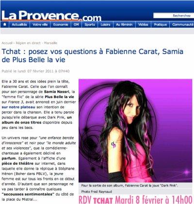 Ce Mardi 08 février RDV TCHAT à 14H00 avec Fabienne en DIRECT sur laprovence.com !