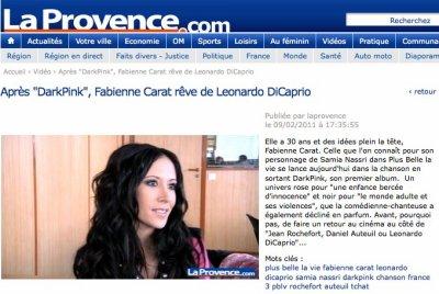 Découvrez l'interview du 8 février 2011 de Fabienne avec La Provence ...