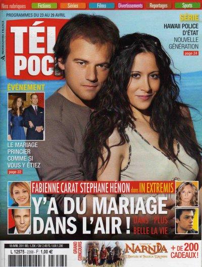 FAbienne Carat et Stéphane Hénon en COUVERTURE de TELEPOCHE lundi 18 Avril !!