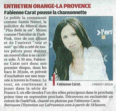 Fabienne SUR LE PLATEAU de LA PROVENCE.COM !